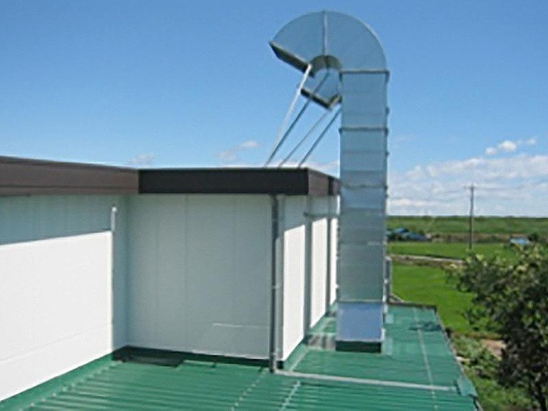 屋外大型排気塔(フィルター付)
